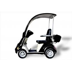 Elektromobil 4 RAD SCOOTER - ECO ENGEL 505 MIT DACH Schwarz Seniorenmobil