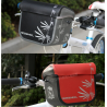Roswheel Wasserabweichende Fahrrad Lenkertasche (rot)