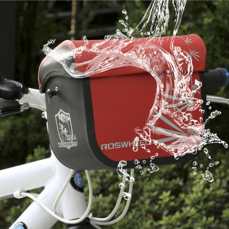Roswheel Wasserabweichende Fahrrad Lenkertasche (schwarz)