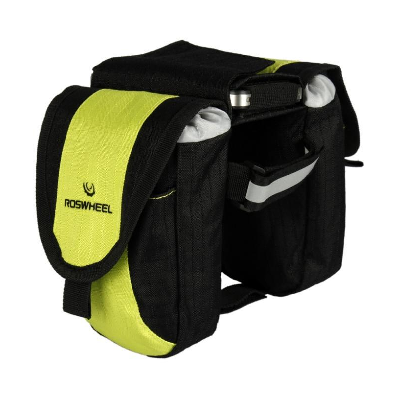 Roswheel Wasserabweichende Fahrrad Rahmentasche (Schwarz-Grün)