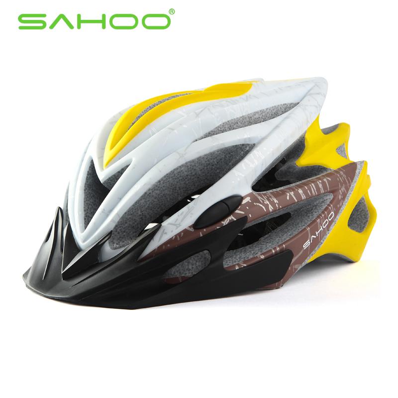 SAHOO Fahrradhelm Gelb
