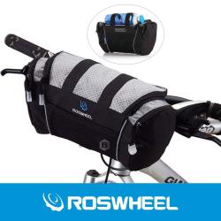 ROSWHEEL Fahrrad Lenkertasche Schwarz/Grau