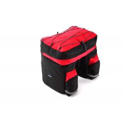 Roswheel Fahrrad Gepäcktasche Schwarz/Rot