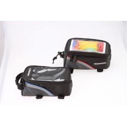 Roswheel Fahrrad Rahmentasche für Touch Screen Handy Blau Größe L