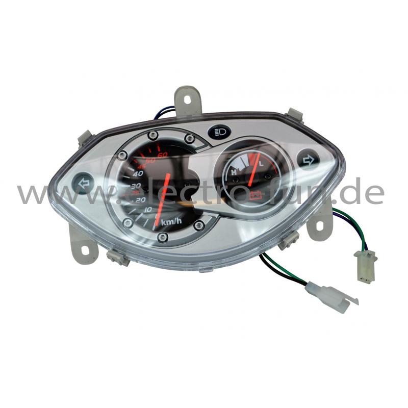 Armaturenbrett mit Reststromanzeige 48V/60 V