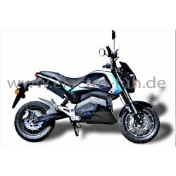 E-Motorrad Ranis 2000 Blau NEU 2200 Watt Motor