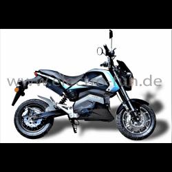E-Motorrad Ranis 2000 Blau NEU 2200 Watt Motor Li-Io Akku