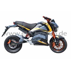 E-Motorrad Ranis 2000 Gelb NEU 2200 Watt Motor Li-Io Akku