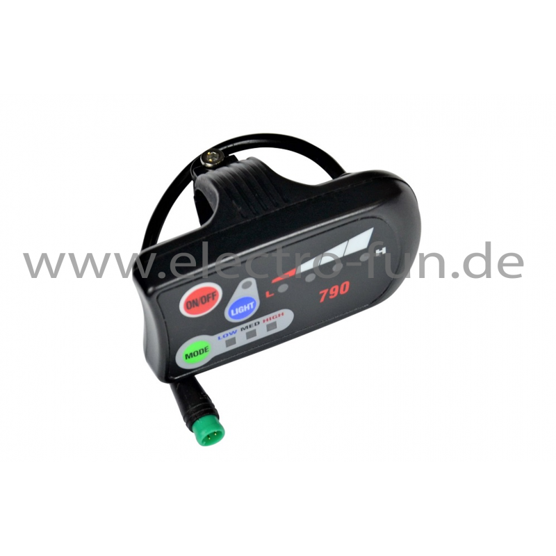 LED Display mit grünem Stecker
