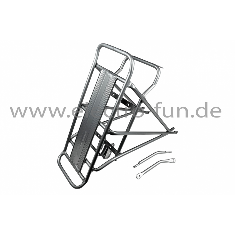 "Gepäckträger für 20"" Fahrräder mit Batteriefach Silber Elektro Faltrad"