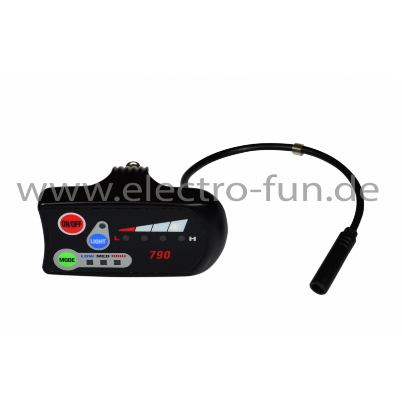 LED Display E-BIKE Stecker halbrund 6 Polig