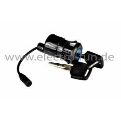Zündschloss Stecker schwarz Elektro Scooter