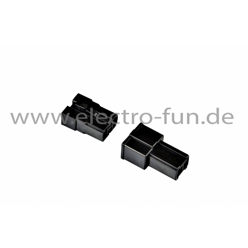 Steckverbinder Set schwarz 2 Pollig