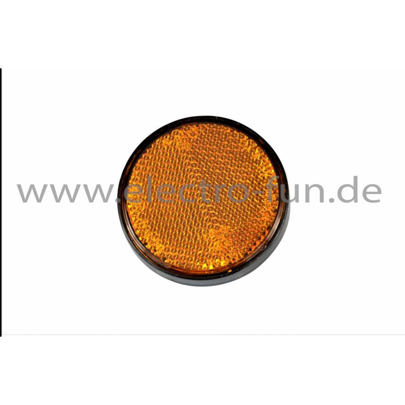 Reflektoren gelb rund Ø 60 mm