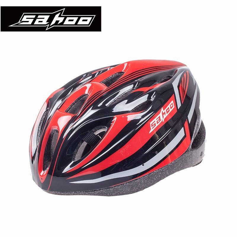 SAHOO Fahrradhelm Schwarz/Rot
