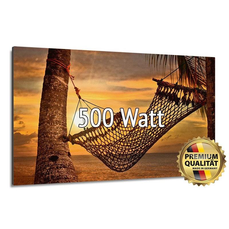 Heizprinz Infrarotheizung Glasbild 500 Watt Rahmenlos 60 x 90 cm