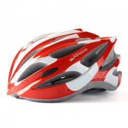 SAHOO Fahrradhelm Weiß/Rot