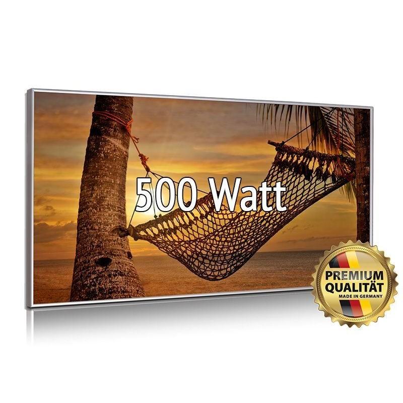 Infrarotheizung Glasbild 500 Watt mit Rahmen 60 x 90 cm