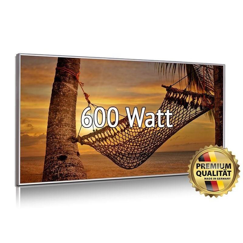Infrarotheizung Glasbild 600 Watt mit Rahmen 60 x 110 cm