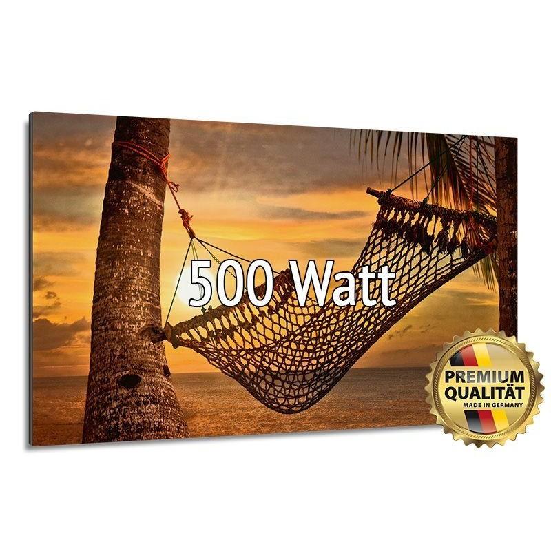 Infrarotheizung Glasbild entspiegelt 500 Watt rahmenlos 60 x 90 cm