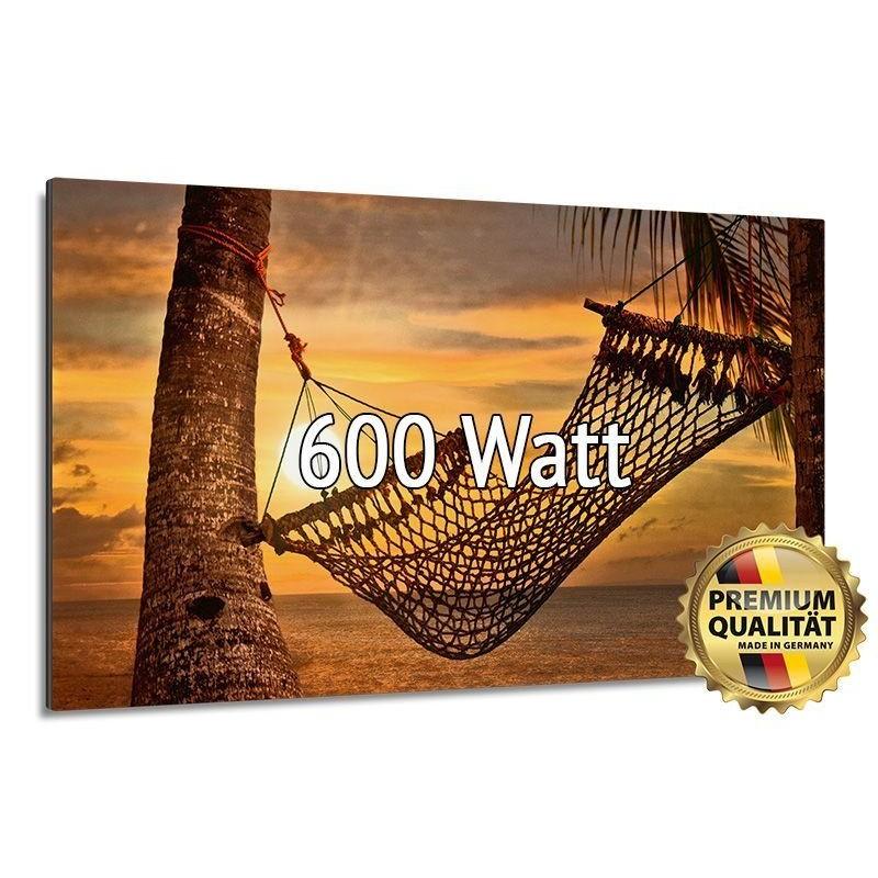 Infrarotheizung Glasbild entspiegelt 600 Watt rahmenlos 60 x 110 cm