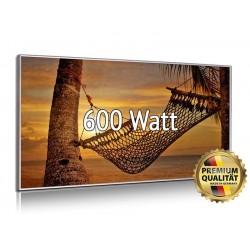Infrarotheizung Glasbild entspiegelt 600 Watt mit Rahmen 60 x 110 cm