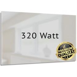 Infrarotheizung Glas weiß 320 Watt rahmenlos 35 x120 cm
