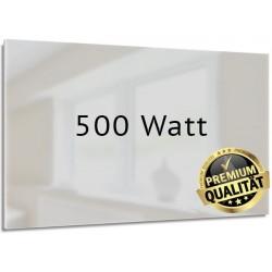 Infrarotheizung Glas weiß 500 Watt rahmenlos 40 x 130 cm