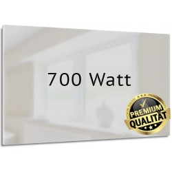Infrarotheizung Glas weiß 700 Watt rahmenlos 60 x 120 cm
