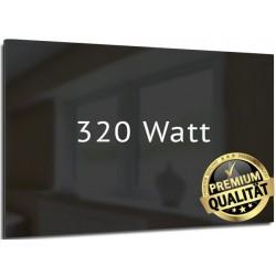 Infrarotheizung Glas schwarz 320 Watt rahmenlos 35 x120 cm