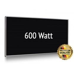 Infrarotheizung Glas schwarz 600 Watt mit Rahmen 60 x 110 cm