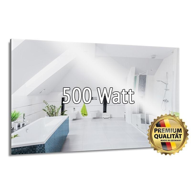 Infrarotheizung Spiegel 500 Watt rahmenlos 60 x 90 cm