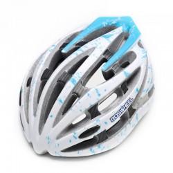ROSWHEEL  Fahrradhelm Weiß/Blau