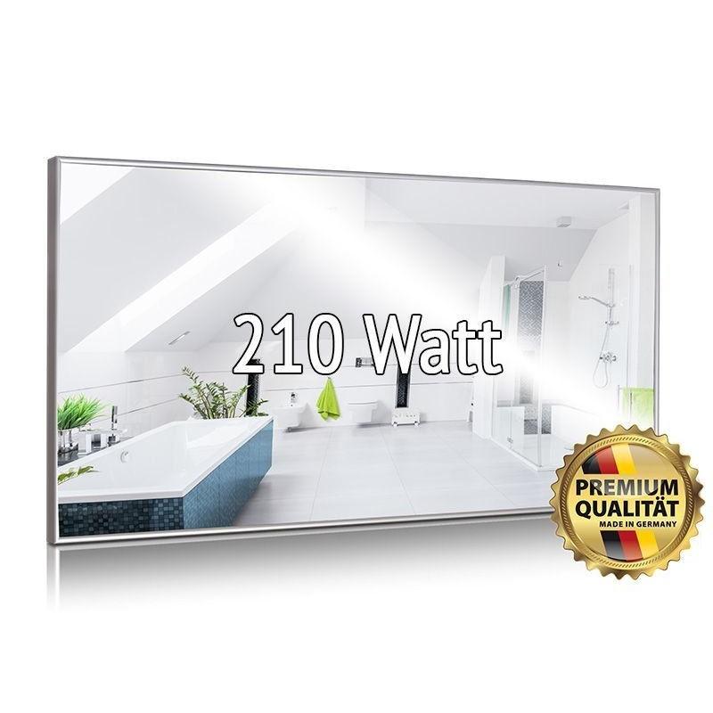 Infrarotheizung Spiegel 320 Watt rahmenlos 35 x 120 cm