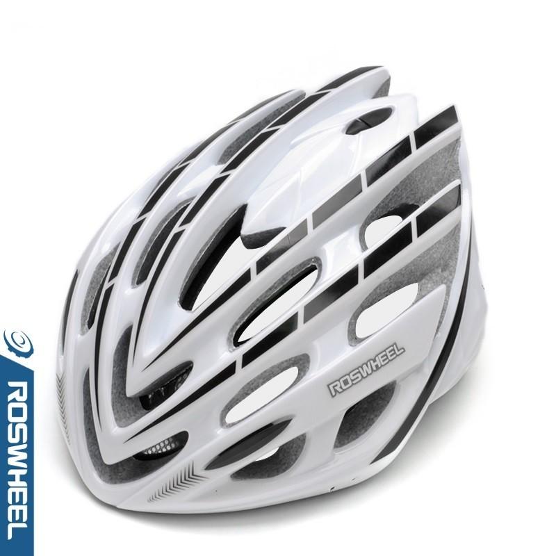 ROSWHEEL Fahrradhelm Weiß/Schwarz