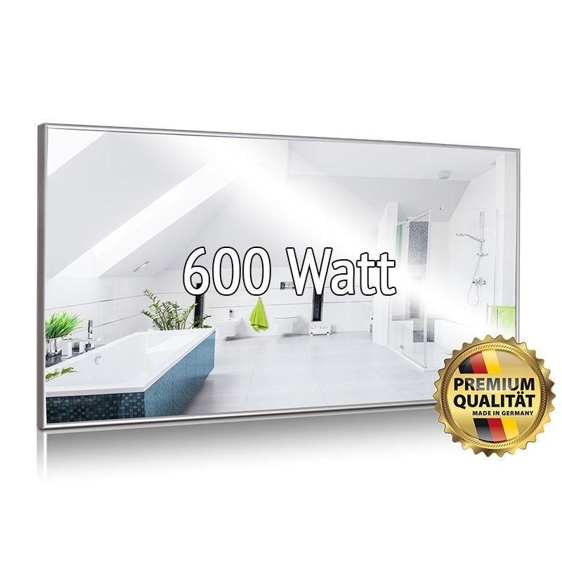 Infrarotheizung Spiegel 500 Watt mit Rahmen 40 x 130 cm