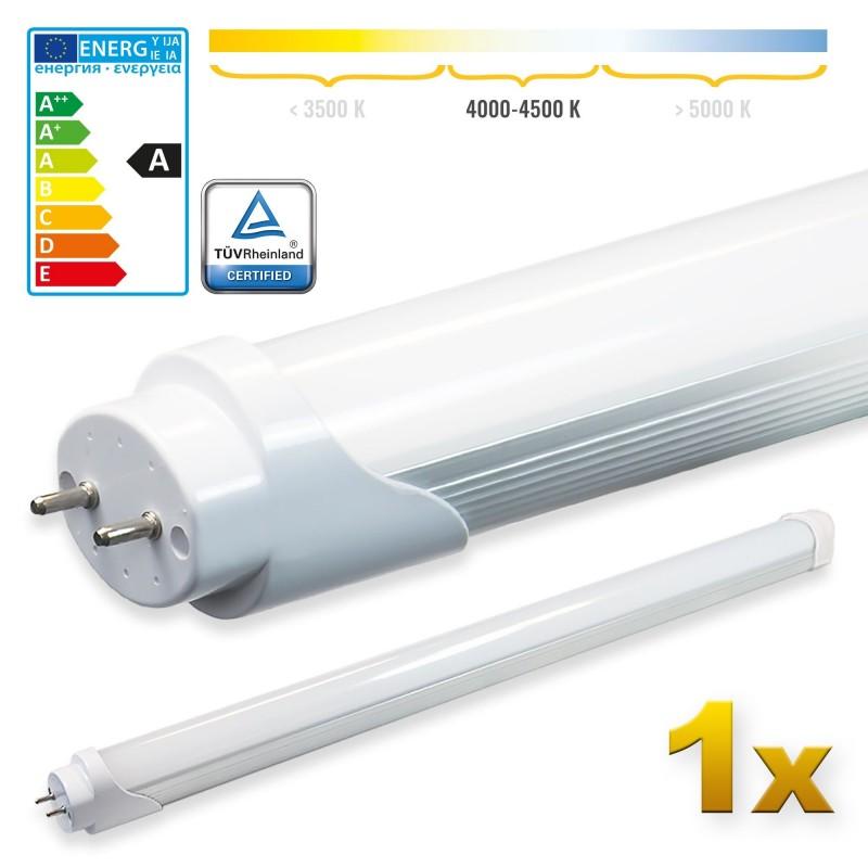 LEDVero 1x SMD LED Röhre 60 cm mit TÜV-Zertifizierung - Leuchtstoffröhre T8 G13 Tube milchige Abdeckung