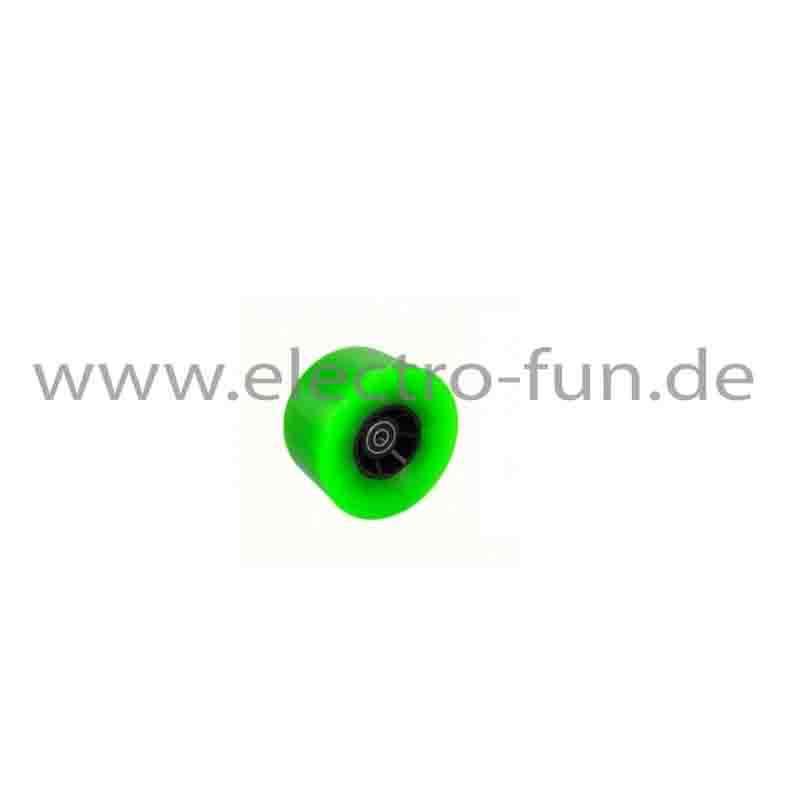 Skateboard Rolle 10,5cm grün
