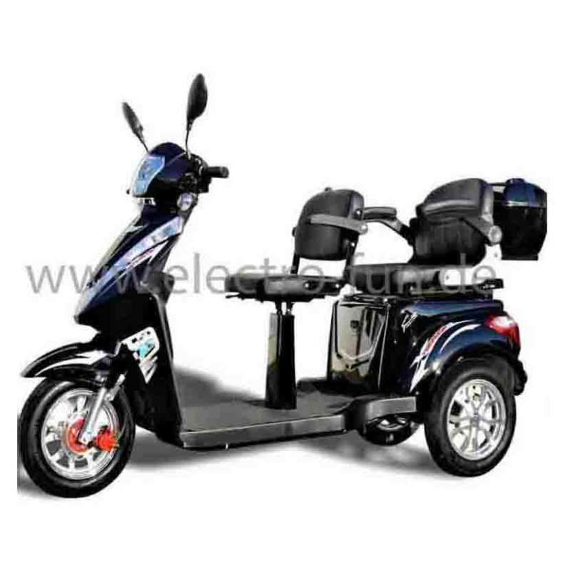 Seniorenmobil ECO ENGEL 503 Schwarz, Elektro Dreirad Roller, 25 km/h, 2 sitzer