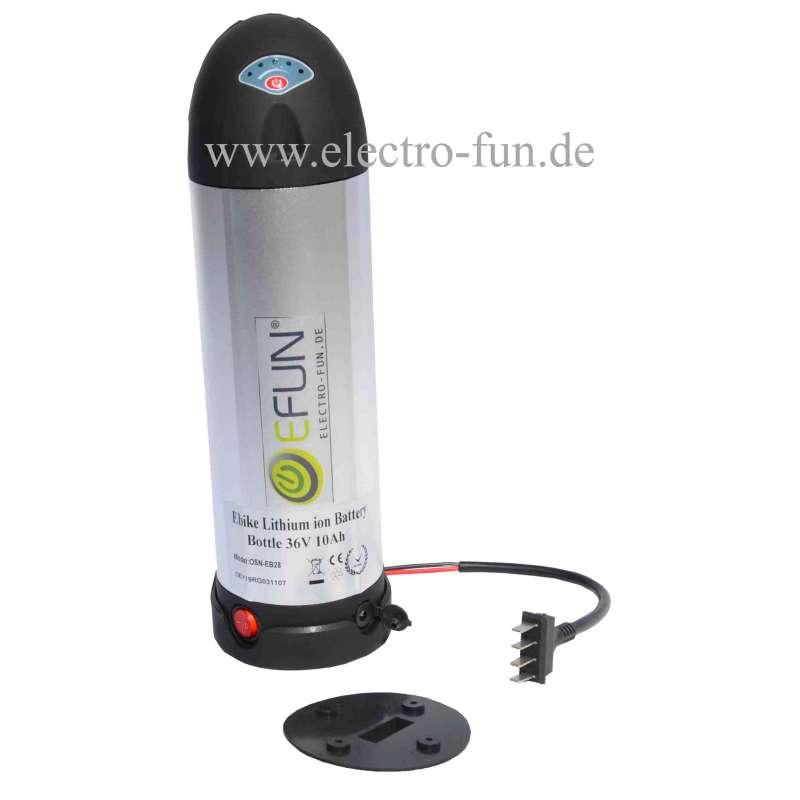 Akku Lithium Ionen  36 Volt 10 Ah BOTTLE E-Bike