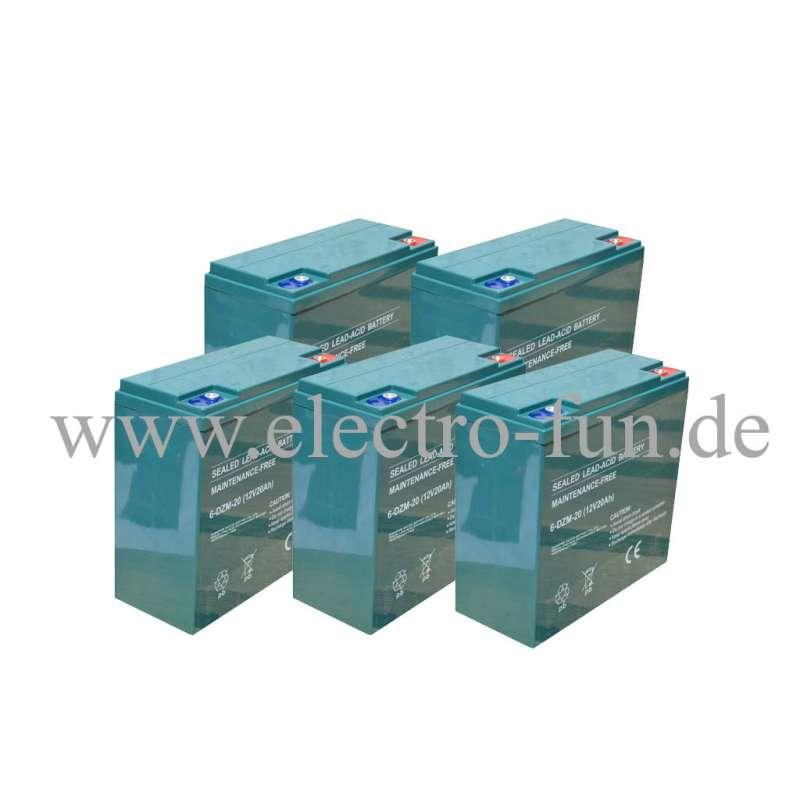 Akku 6-DZM-20 60 Volt 20 Ah gepruefte qualitaet passend fuer elektro fahrzeuge