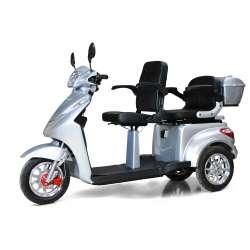 Seniorenmobil ECO ENGEL 503 Silber, Elektro Dreirad für zwei Personen 25 km/h